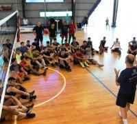 Plantel de Sarmiento Santana Texitles de voleibol