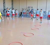 Sarmiento volvió a los entrenamientos