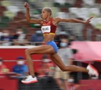 Venezolana Yamil Rojas récord olímpico y mundial de salto triple