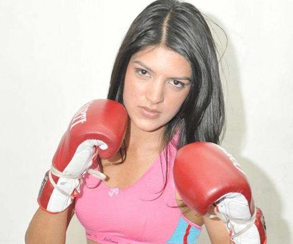 Andrea Sánchez, la pugilista de Villa Angela.