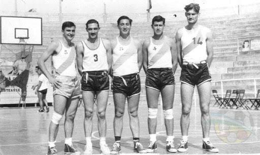 Chaco 1957 en el Argentino con su formación inicial: Valussi, Outeriño, Dosso, Lutringer y Wilfredo Simoni