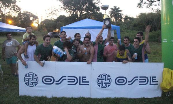 Los integrantes del equipo de Ranitas, ganador del undécimo circuito.