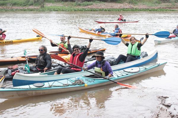 Algunos de los participantes en  Tres Ríos para una Aventura