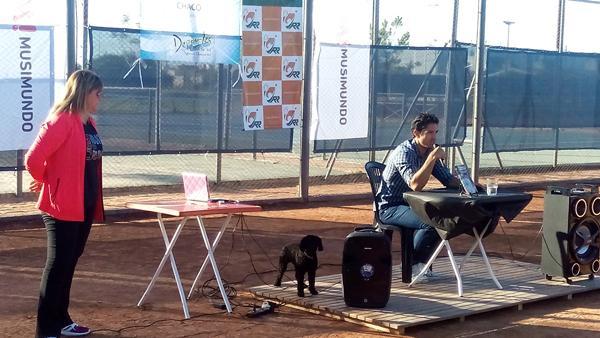 Martín Vasallo Arguello en la presentación del Programa de Tenis.