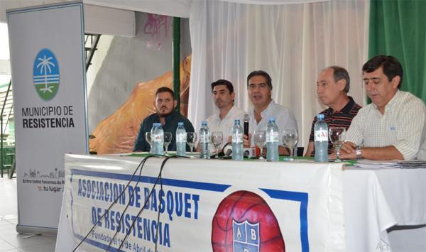 Capitanich, Martínez y autoridades de la ABR