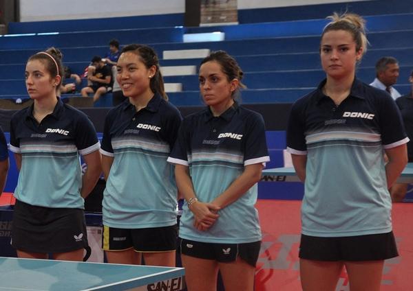 Ana Codina integrando el equipo argentino de damas.