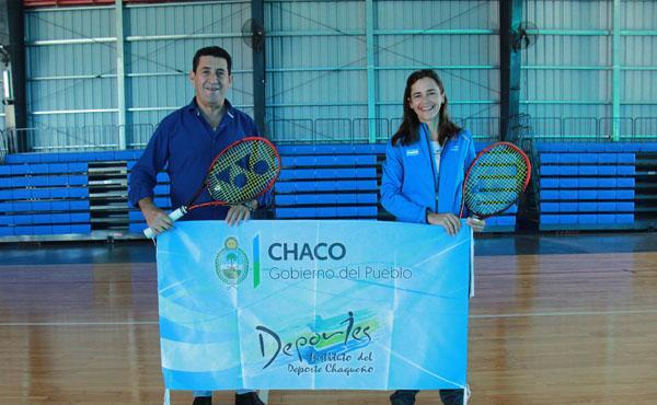 Silvina Delgado con Juan Carlos Arguello.