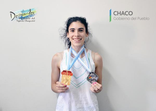Milena Anabel Cattarozzi, de 20 años, obtuvo el primer puesto entre los cinturones negros.