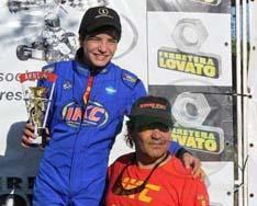 Alan Iserre, ganador y campeón de la 125 c.c. directa en el Karting santsfesino