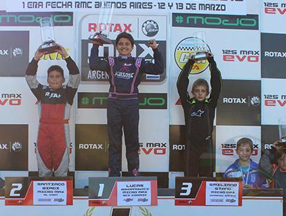 Lucas Bohdanowicz en lo alto del podio de Micro Max Copa Rotax Foto: © Juan P. Casella
