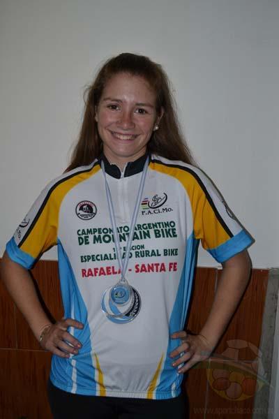 Micaela Leguizamón, campeona de Rural Bike.