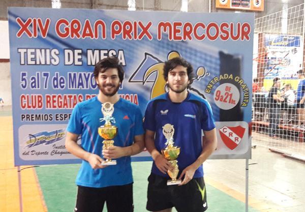 medalla de oro y plata en sub 23, Franco Títolo y Juan Ignacio Riback.