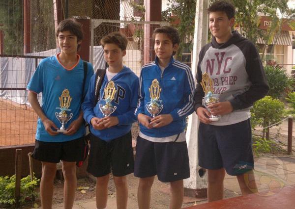 Tenistas ganadores del club Regatas