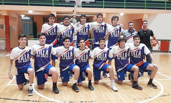 """Villa San Martín ganó su grupo de manera contundente y se instaló en las semifinales del Provincial de Básquet U17 """"masculino""""."""